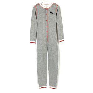 3/$30 Kids Union Suit Canadiana Moose One Piece Pajama 6